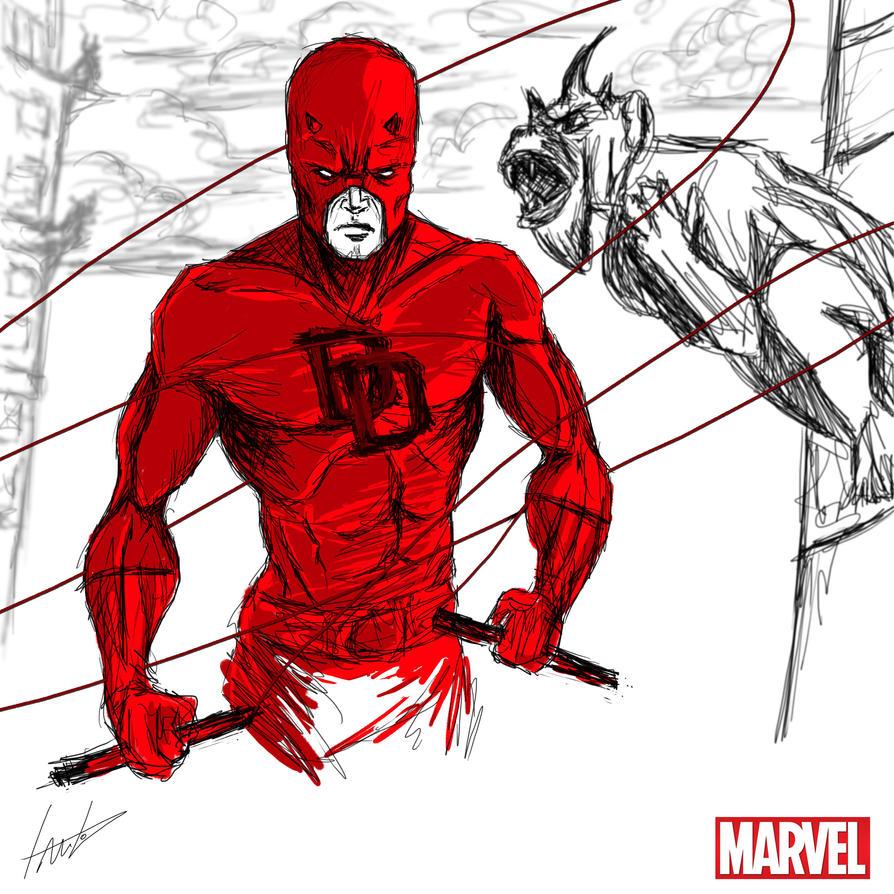 Heroes Series: DAREDEVIL by LouizBrito