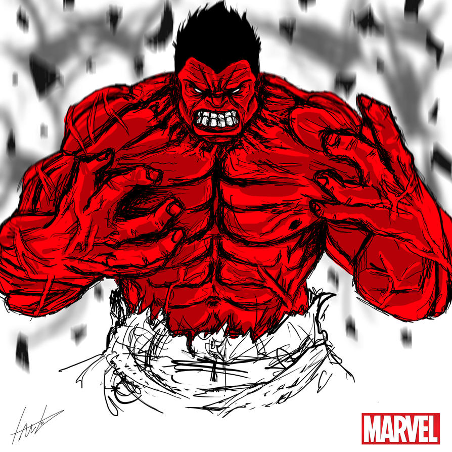 Heroes Series: RED HULK by LouizBrito
