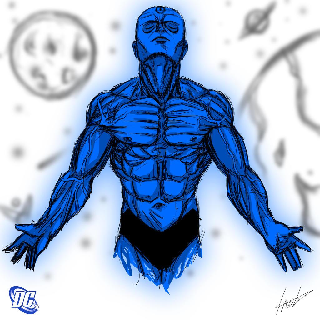 Heroes Series: MR. MANHATTAN by LouizBrito