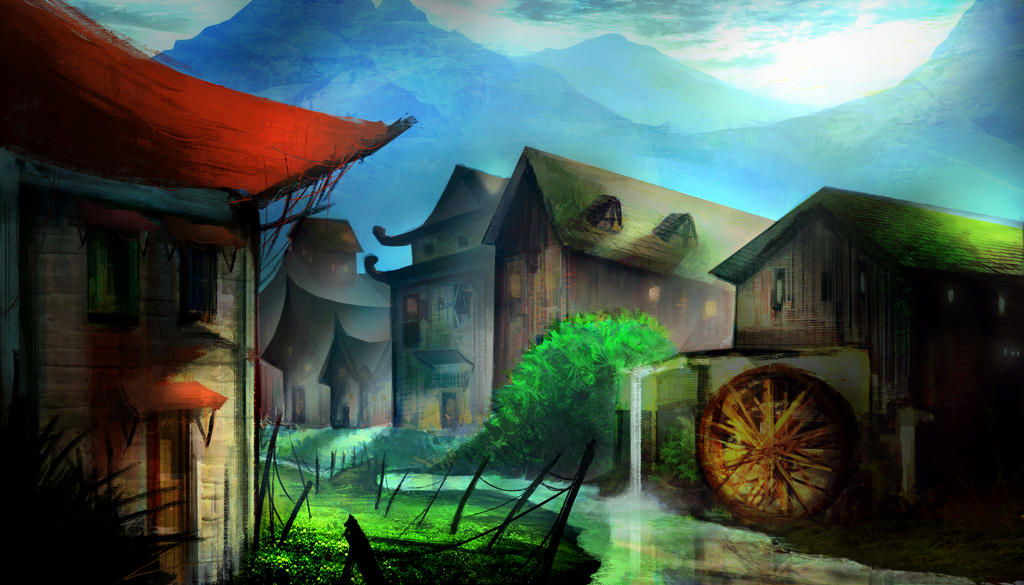 Practicing Color/ Perspective/ Photobashing 3 by LouizBrito