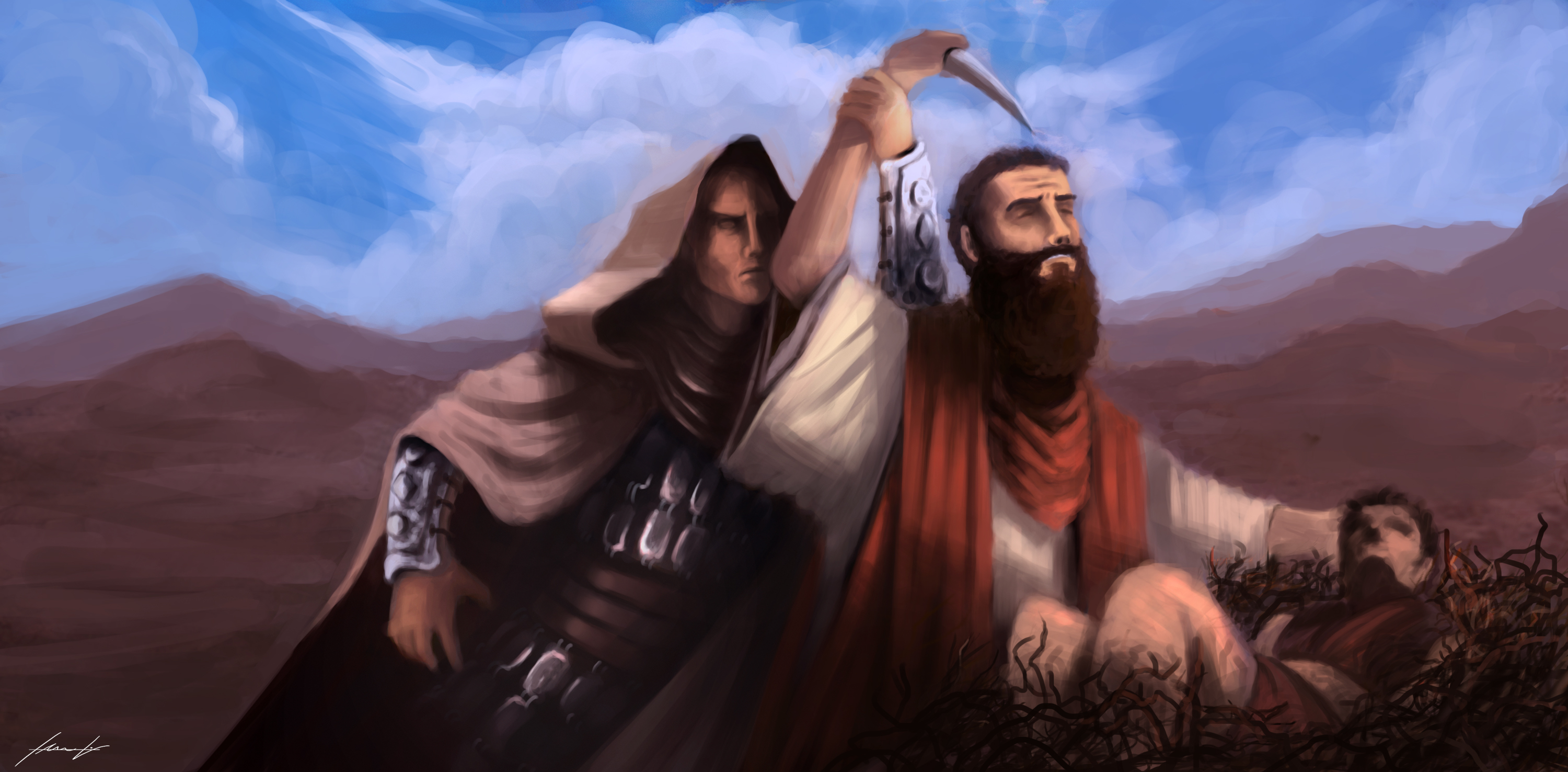 Abraham and Isaac by LouizBrito