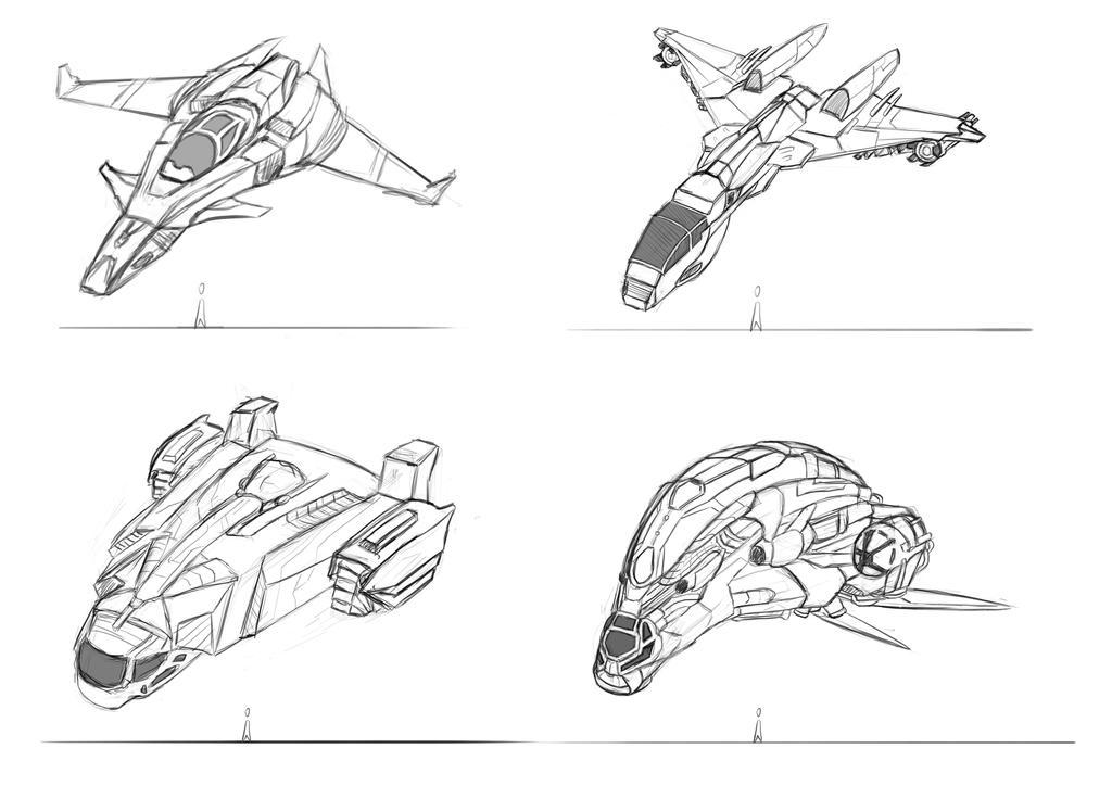Spaceship Designs by LouizBrito