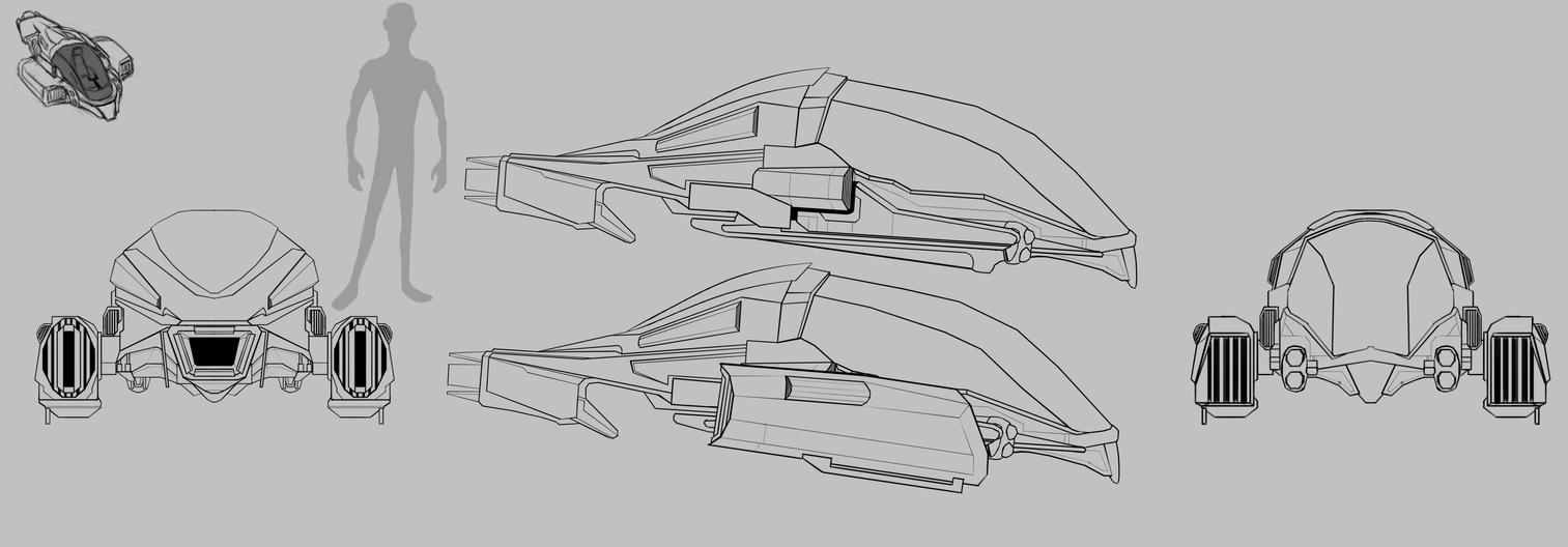 ModelSheet Spaceship by LouizBrito