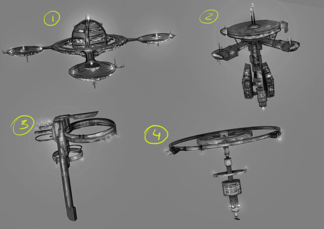 Space Station Designs by LouizBrito