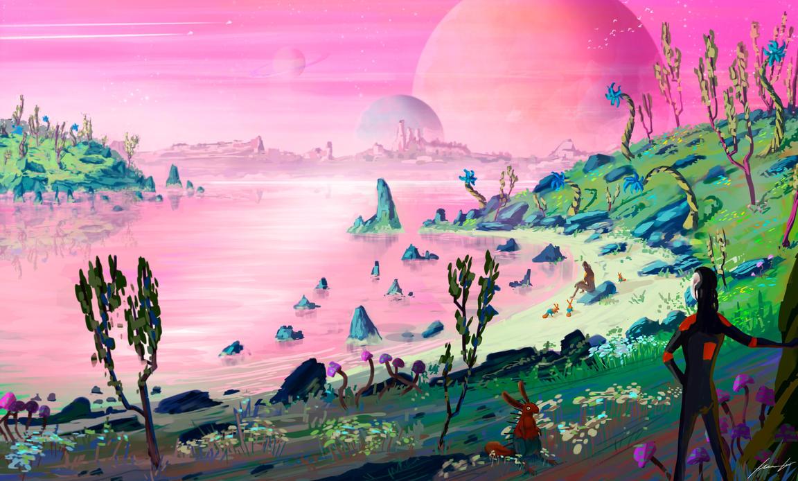 Garden Alien Planet by LouizBrito