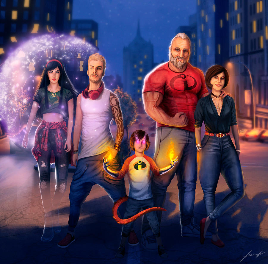 My grown Incredible family by LouizBrito