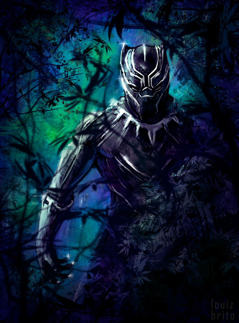 Black Panther Sketch by LouizBrito