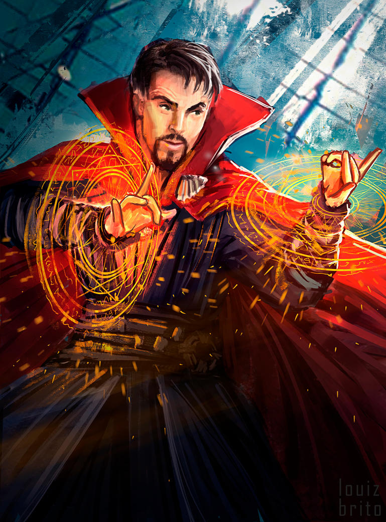 Doctor Strange Sketch by LouizBrito
