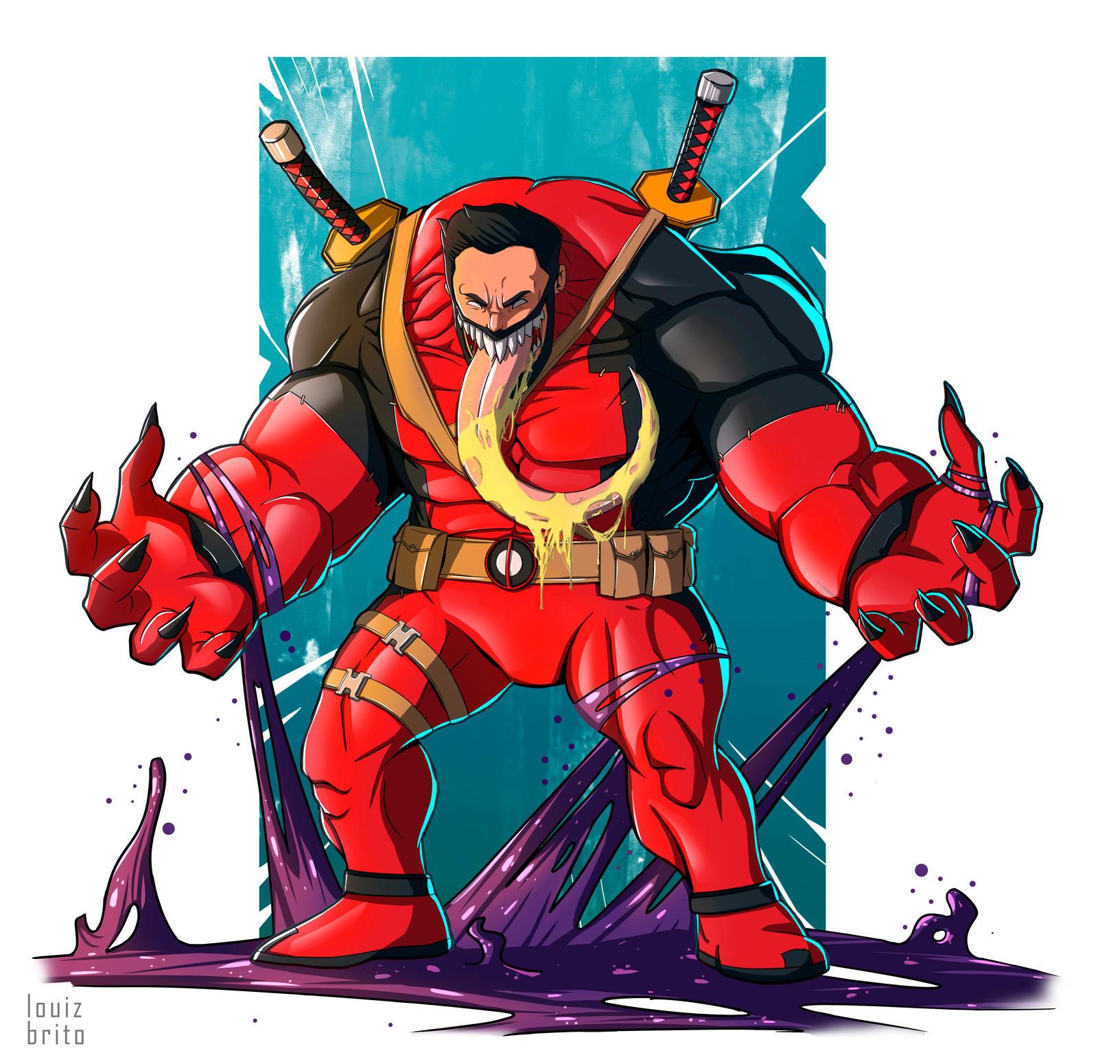 Deadpool Venom by LouizBrito