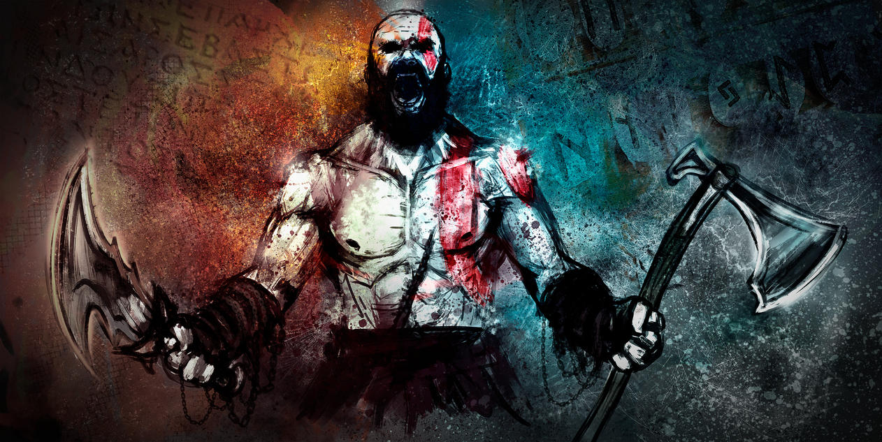 Kratos sketch by LouizBrito