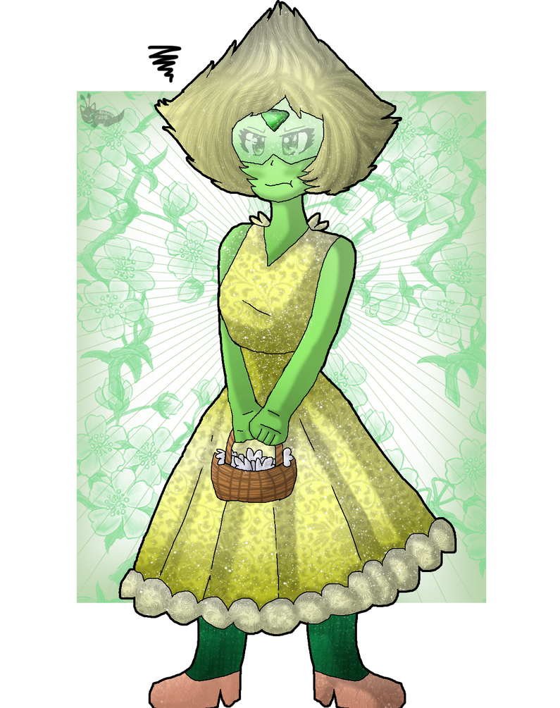 based on a recent steven universe episode, reunited. I really like peri's cute design so I wanted to draw her~ but I also want t try out new expressions too so, here's a cute flower girl clod XD I ...
