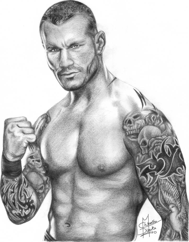 Randy orton pencil drawing by chirantha