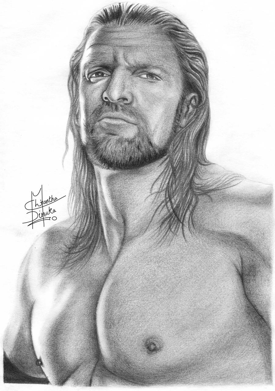 Triple H Pencil Drawings by Chirantha on DeviantArt