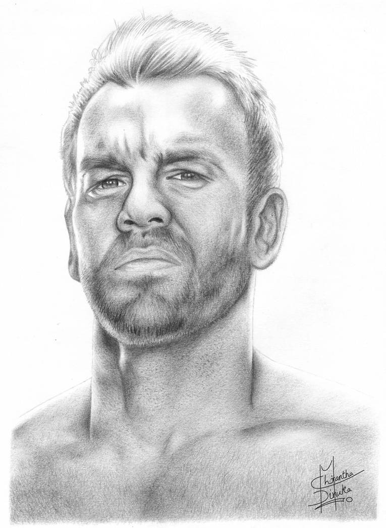 Wwe christian pencil drawing by chirantha on deviantart
