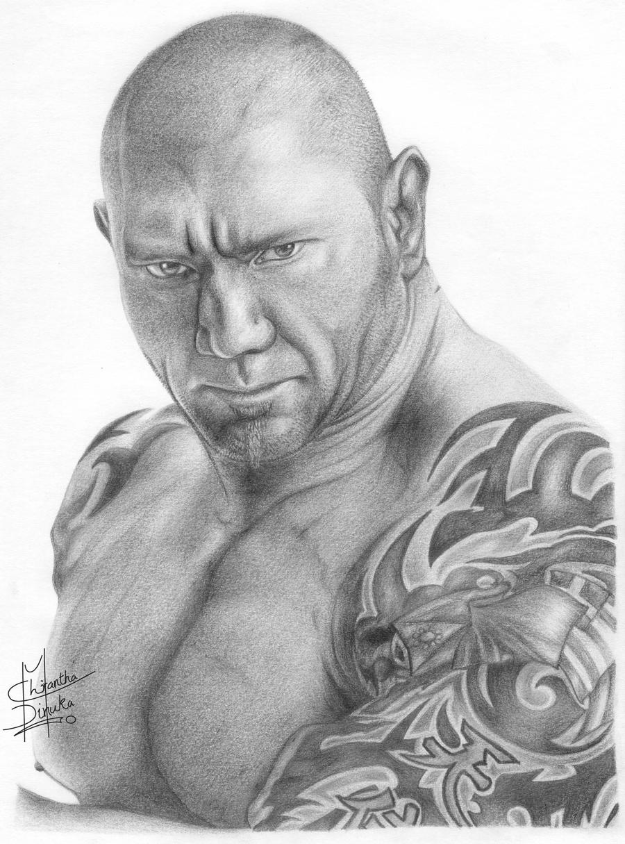 Uncategorized Wwe Drawing Pictures wwe batista pencil drawing by chirantha on deviantart chirantha