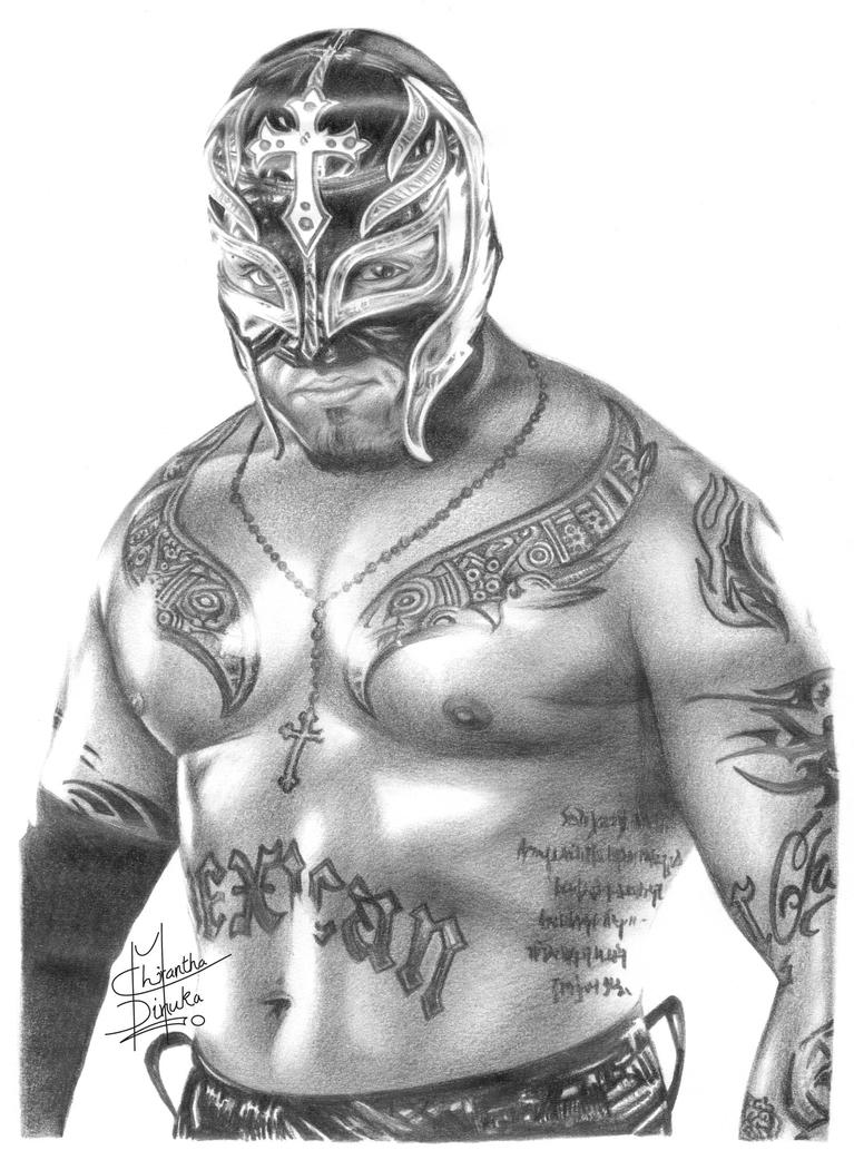 Wwe rey mysterio pencil drawing by chirantha on deviantart for Rey mysterio tattoos