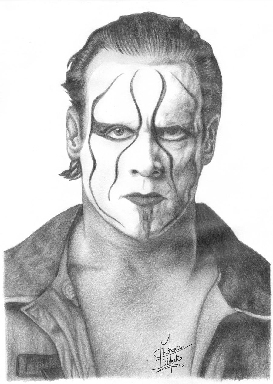 Uncategorized Wwe Drawing Pictures tna sting pencil drawing by chirantha on deviantart chirantha
