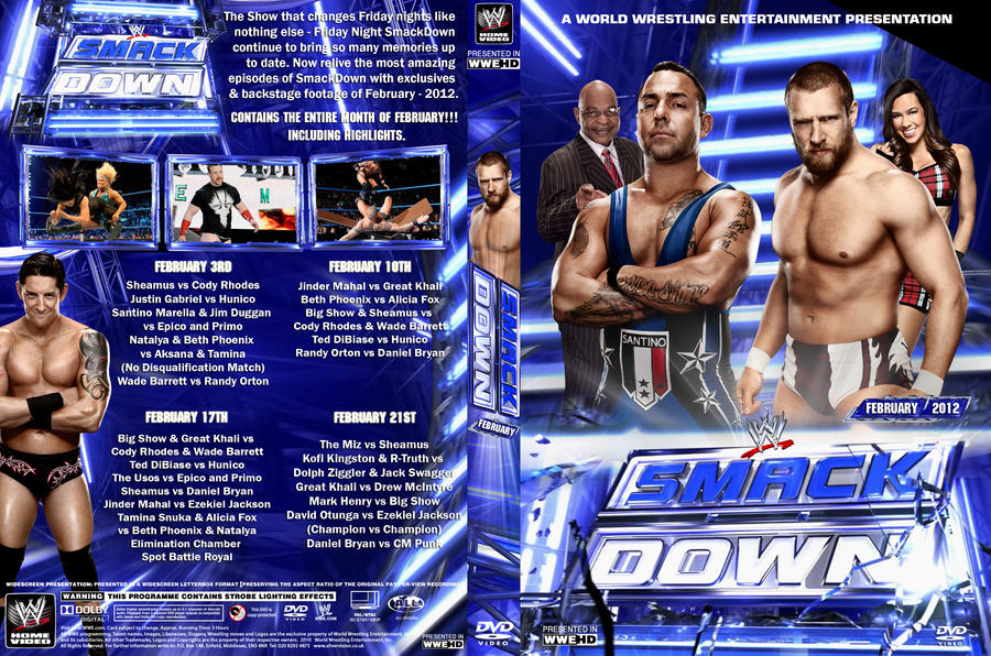 WWE SmackDown February 2012 DVD Cover By Chirantha On