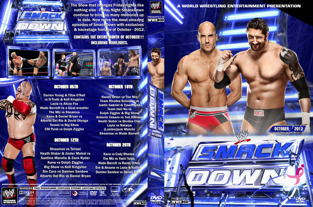 WWE SmackDown October 2012 DVD Cover by Chirantha on