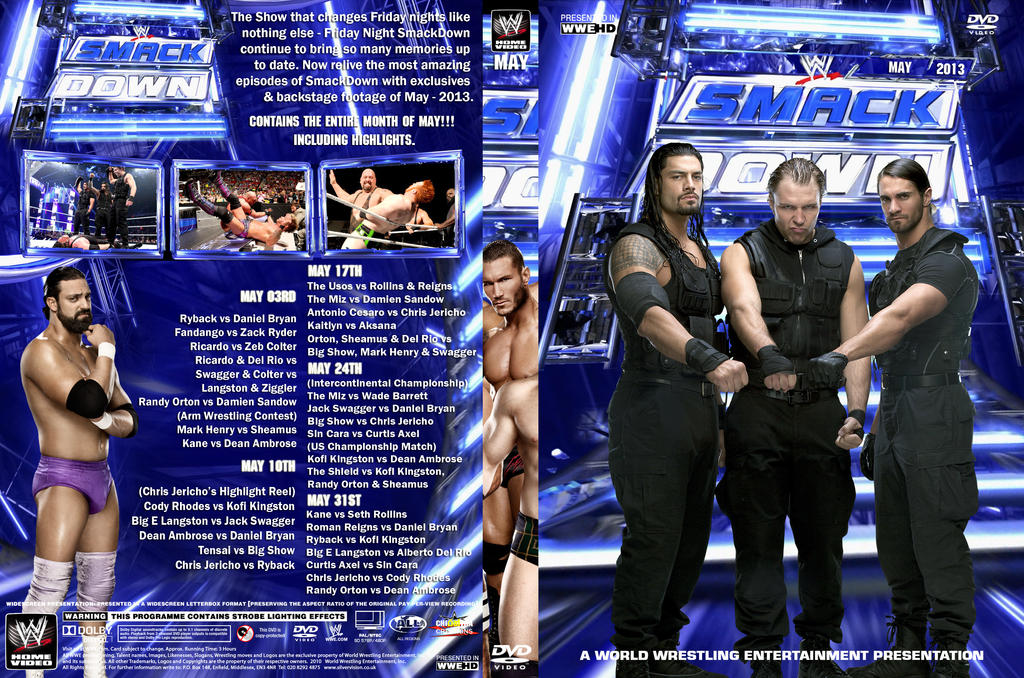WWE SmackDown May 2013 DVD Cover By Chirantha On DeviantArt