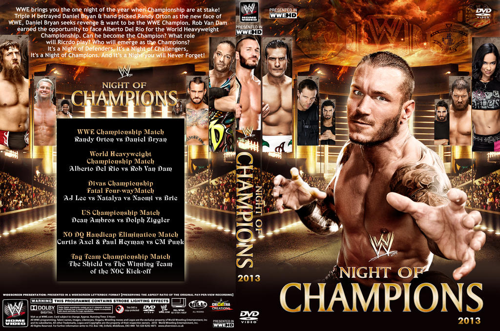 Wwe Night Of Champions 2013 Dvd Cover V1 By Chirantha On