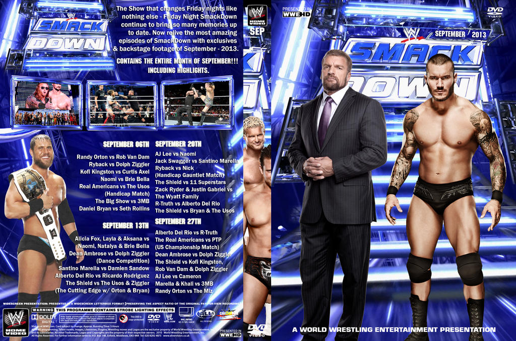 WWE SmackDown September 2013 DVD Cover by Chirantha on