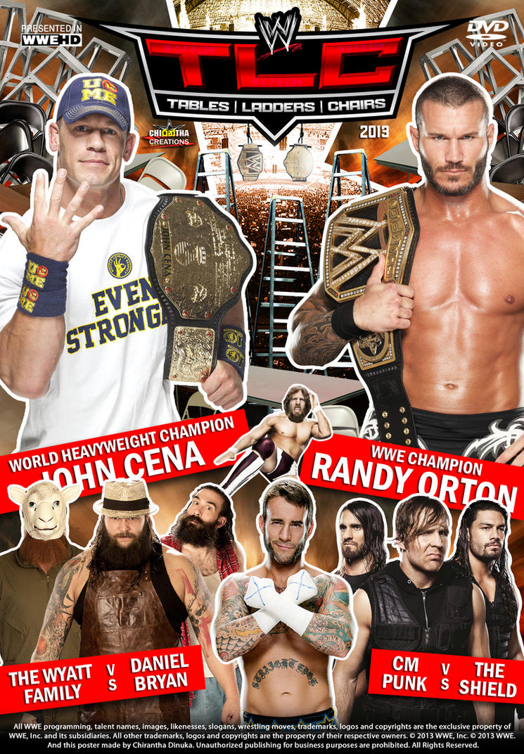 Wwe tables ladders and chairs 2013 poster - Wwe Tlc 2013 Poster By Chirantha