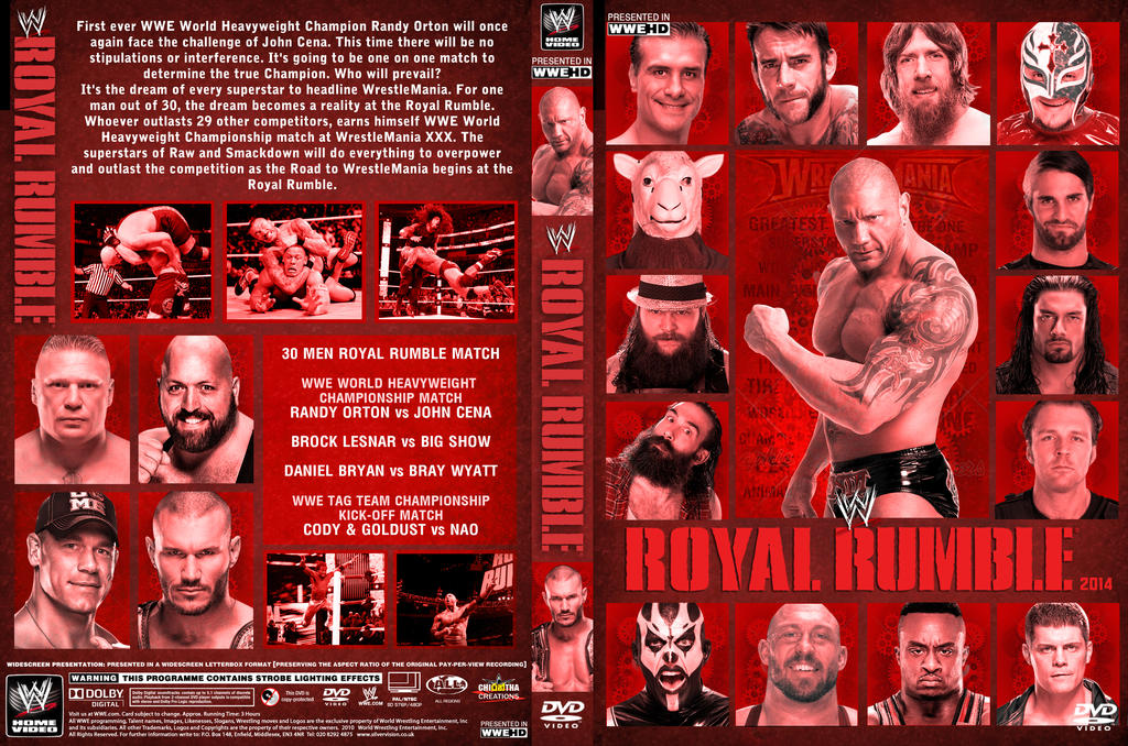 WWE Royal Rumble 2014 DVD Cover V3 by Chirantha