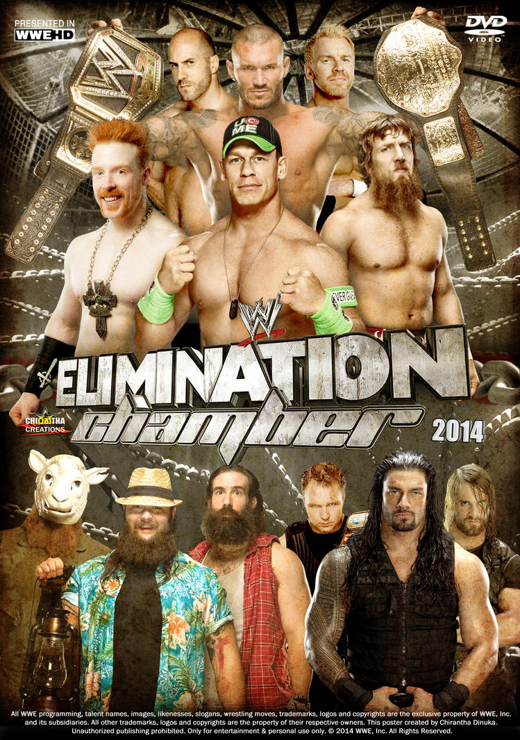 WWE Elimination Chamber 2014 Poster by Chirantha