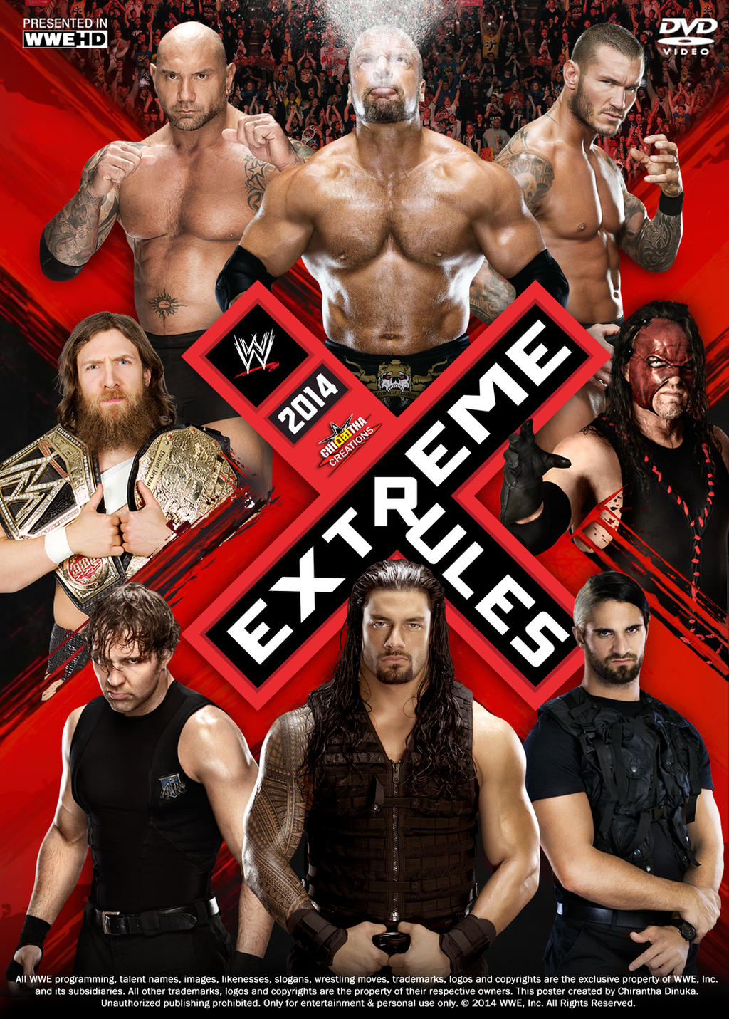 Extreme rules 2014 brock lesnar poster autos post