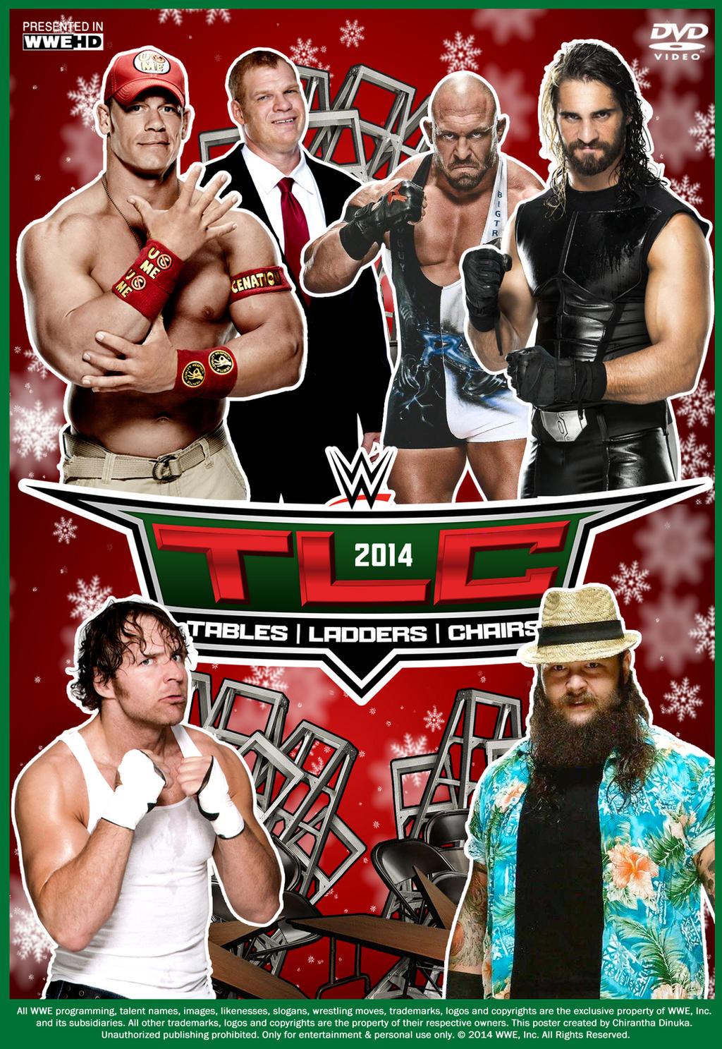 Wwe tables ladders and chairs 2013 poster - Filename Wwe_tlc_2014_poster_by_chirantha D893hpo Jpg View Image Found On Art Wwe Tlc 2014 Poster 499008876