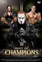 WWE Night of Champions 2015 Poster by Chirantha