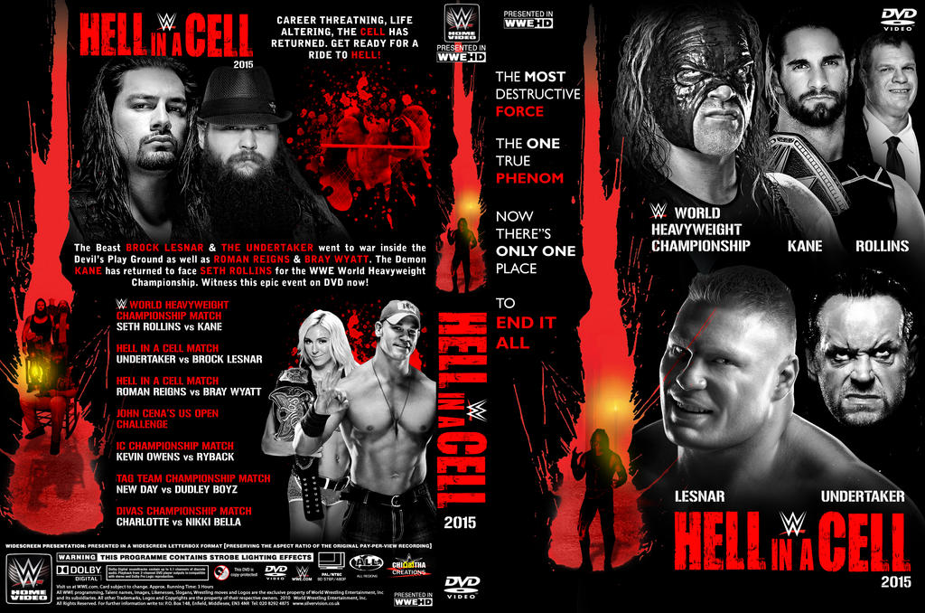 WWE Hell in a Cell 2015 DVD Cover by Chirantha