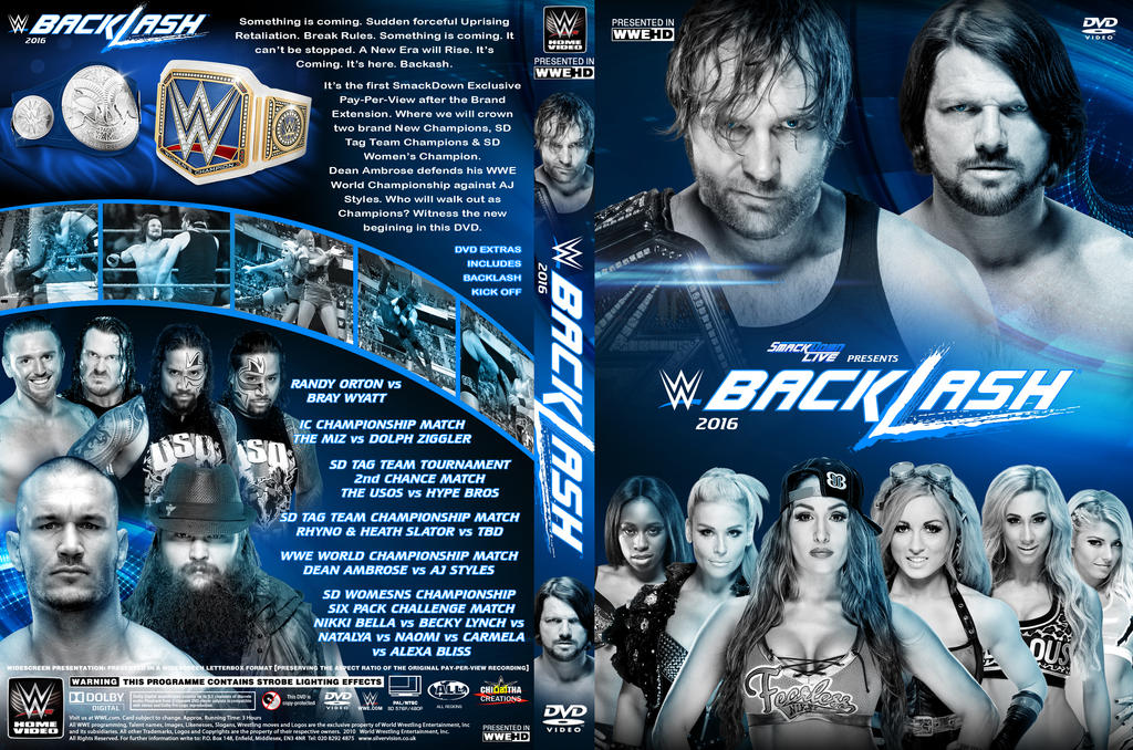 WWE Backlash 2016 DVD Cover By Chirantha