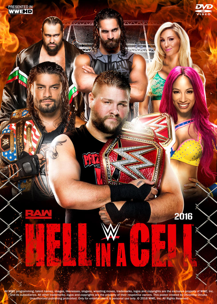WWE Hell in a Cell 2016 Poster by Chirantha