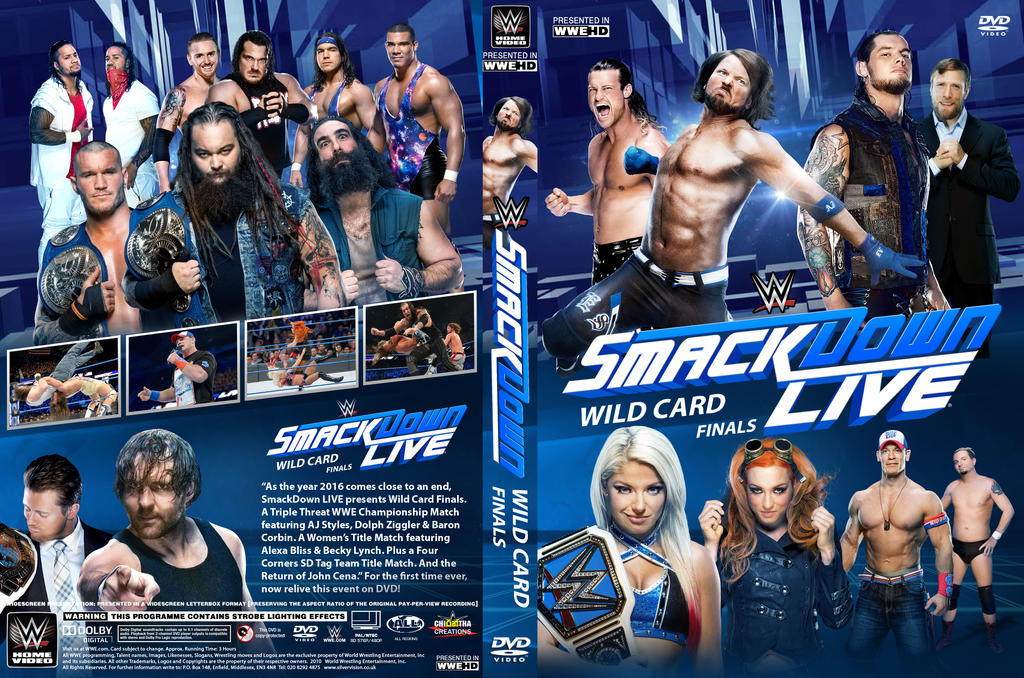 WWE SmackDown Wild Card Finals DVD Cover By Chirantha On