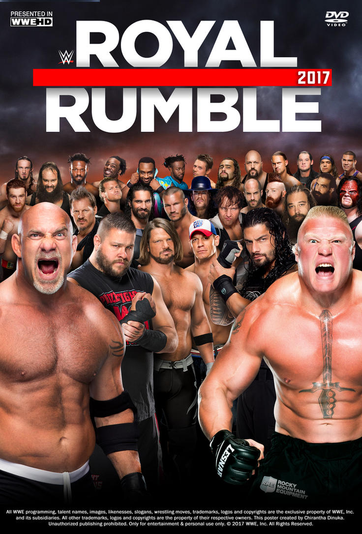 Royal Rumble 2017 Poster by Chirantha