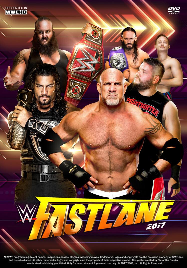 WWE Fastlane 2017 Poster by Chirantha