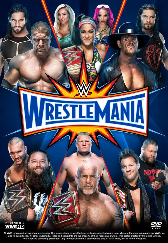 WWE WrestleMania 33 Poster by Chirantha