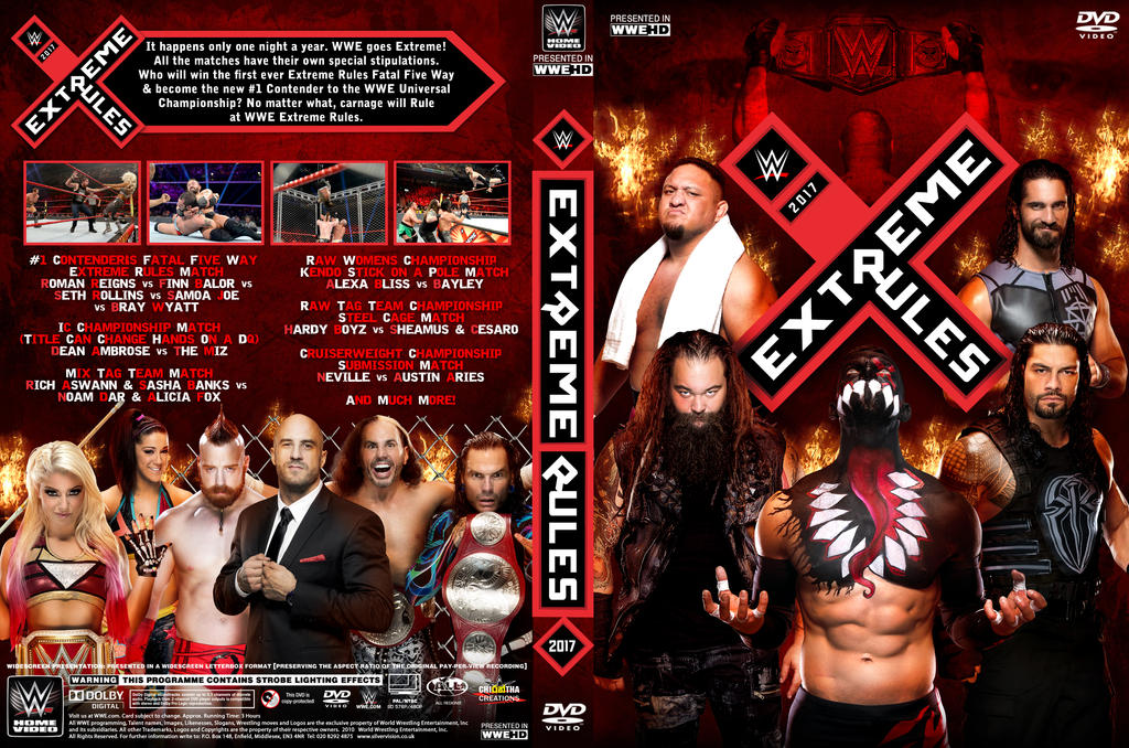 Wwe Extreme Rules  Dvd Cover By Chirantha