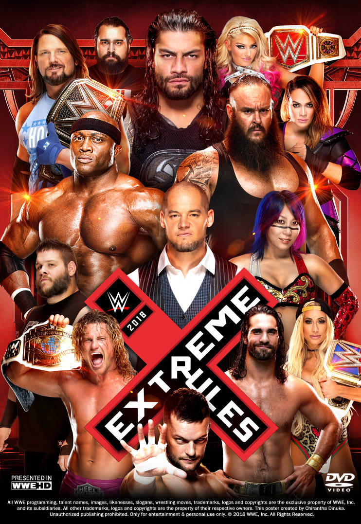 WWE Extreme Rules 2018 Poster by Chirantha on DeviantArt