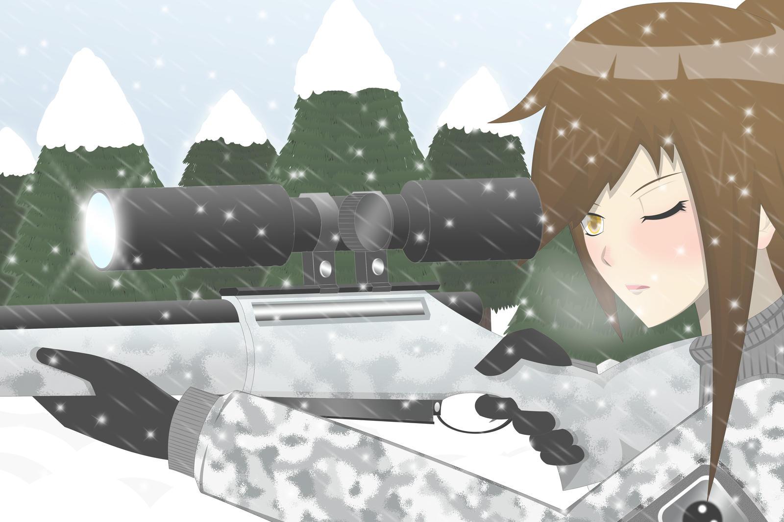 Shizune the sniper by amini101