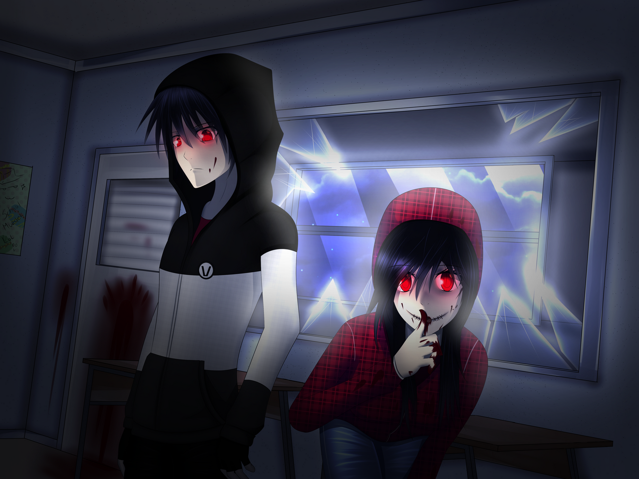 AT with Fiolee4everMarshyyFi : M and F 'v' by amini101