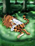 Flora Sleeping with bg