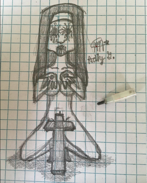 Satanic Nun by AdhyGriffin
