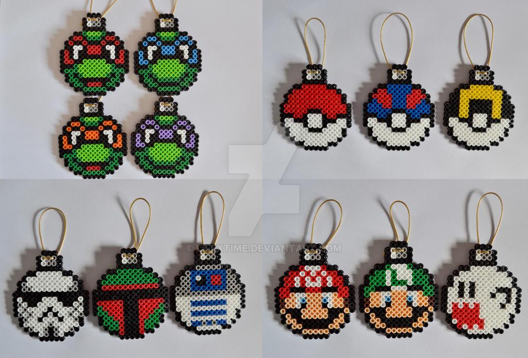 Christmas Hama Beads.Perler Beads Christmas Decorations Christmas Decorations 2019
