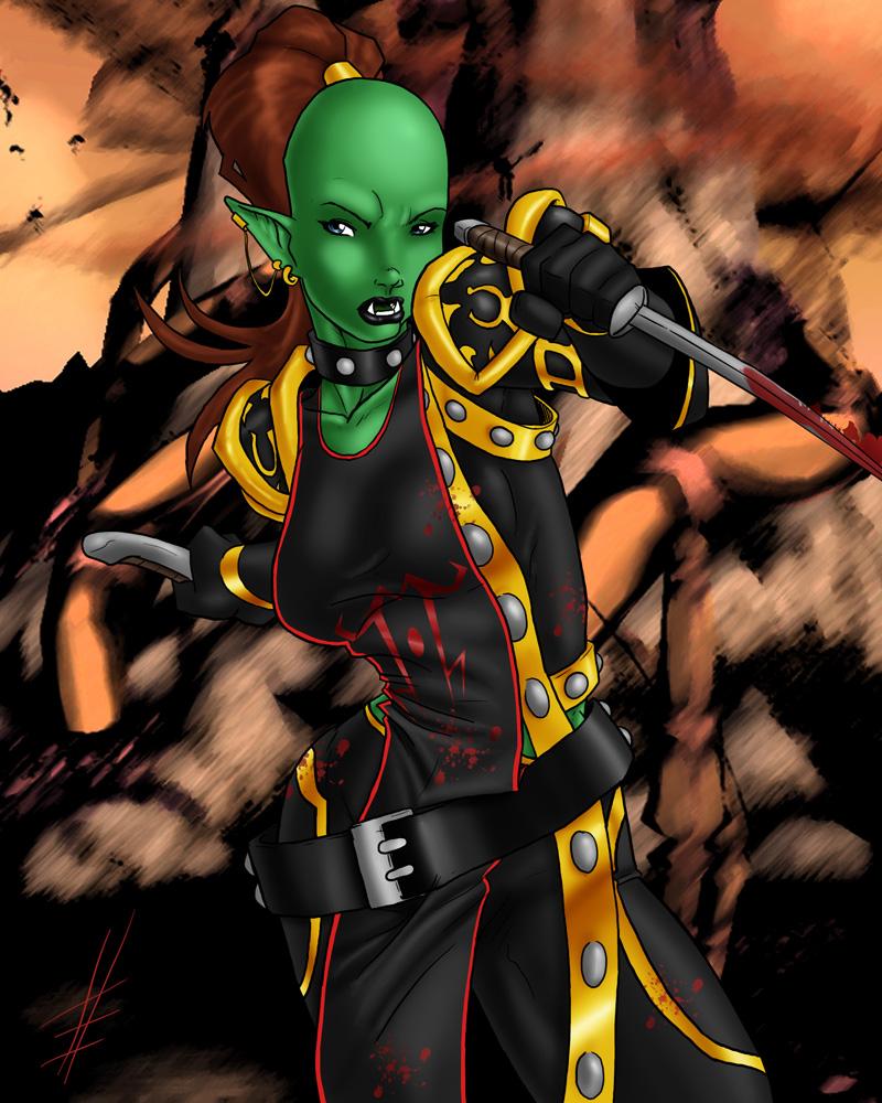 Morgania Orc Rogue By Lexikimble On Deviantart