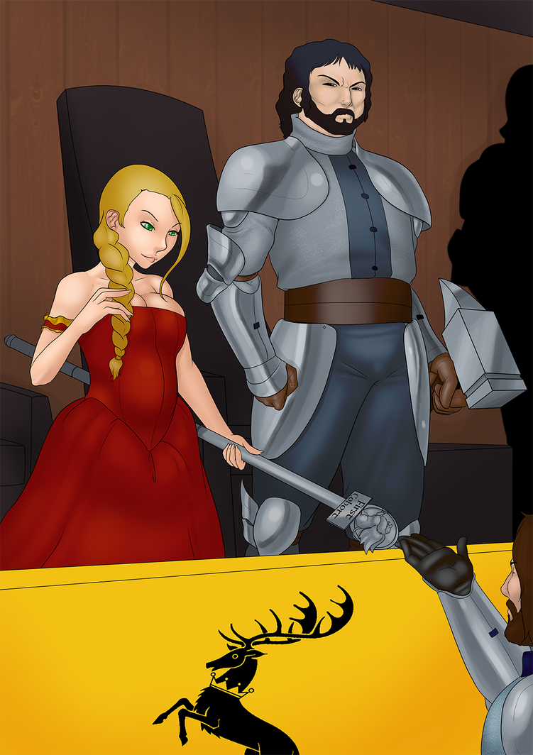 Robert and Cersei by LexiKimble