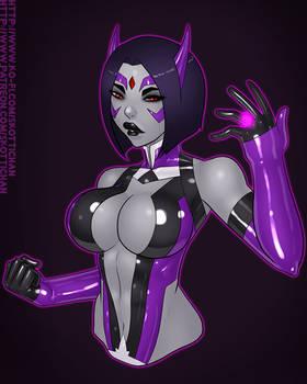 Patreon Comm - Star Sapphire Raven