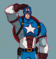 Captain America Sketch inspired by Eric Guzman by Marvelzukas